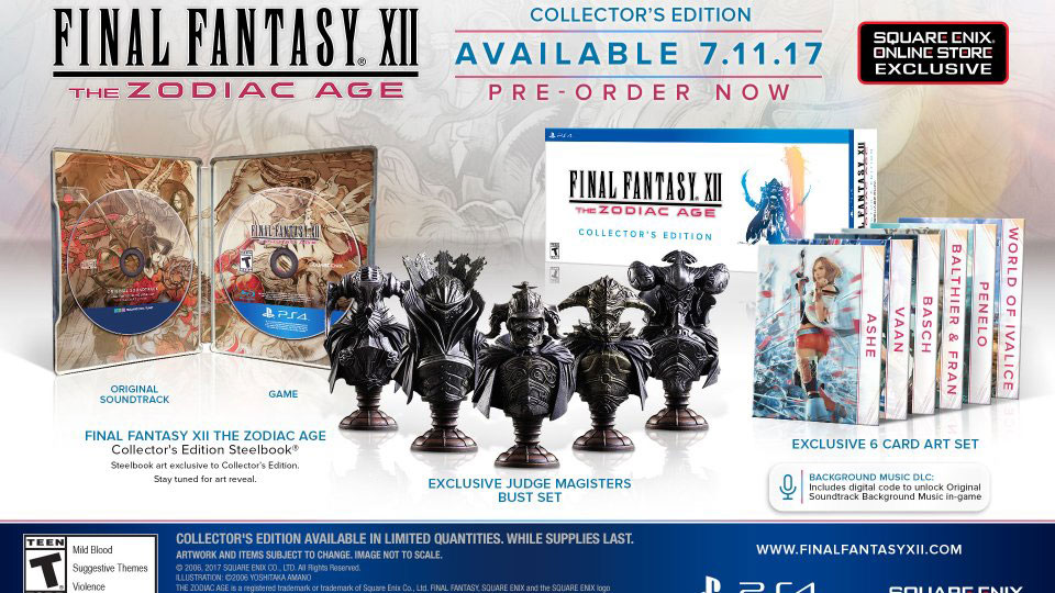 final fantasy xii zodiac age collector's